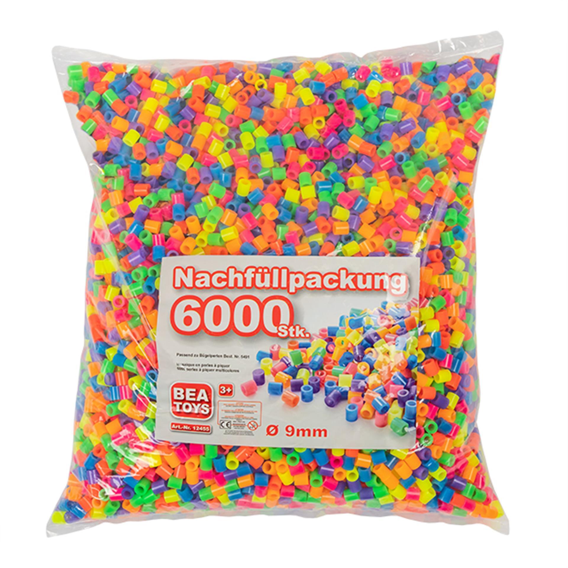 Bügelperlen gross Nachfüllpack 6000 Stk.