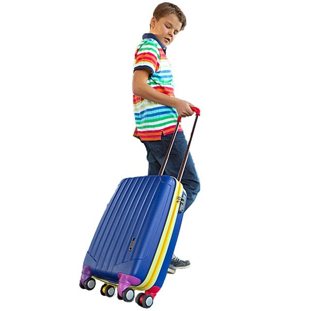 Koffer Trolley Blue Travel