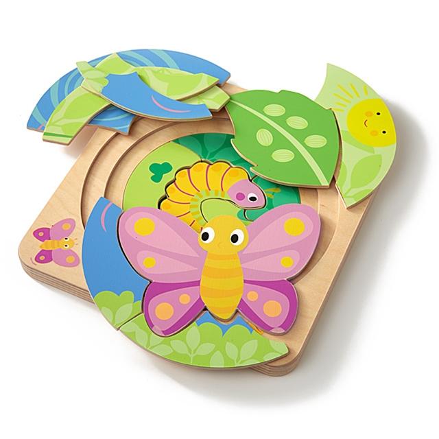 Mehrlagenpuzzle Schmetterling