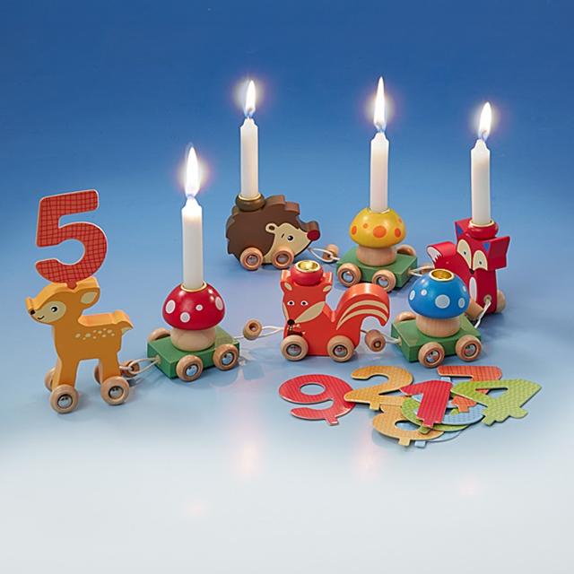 Geburtstags Holzzug Tiere