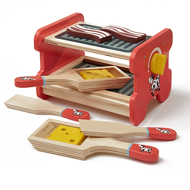 Spiel Raclette Holz 9tlg.