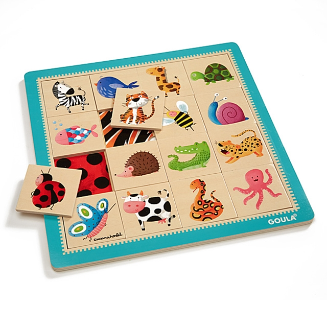 Holzpuzzle Bunte Tiere ZOOM