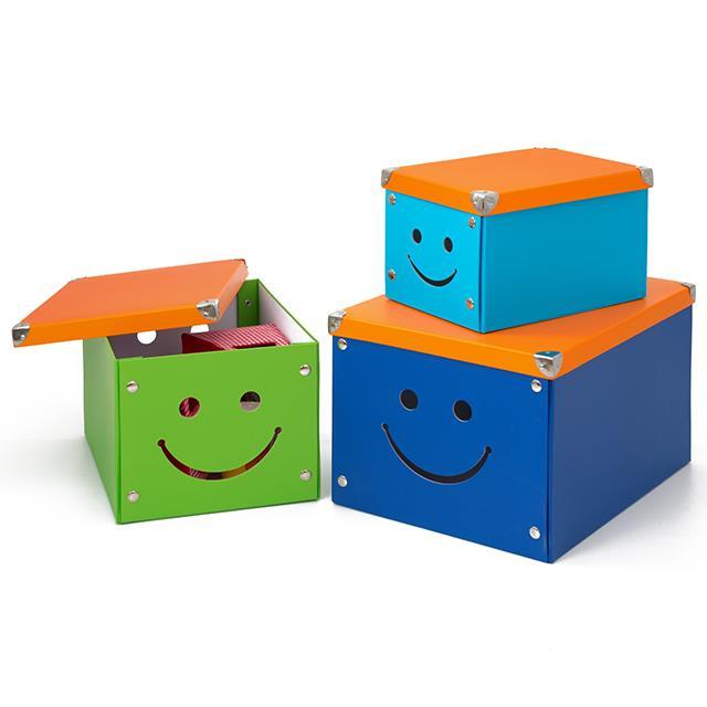 Ordnungsboxen Smiley 3 Stk.