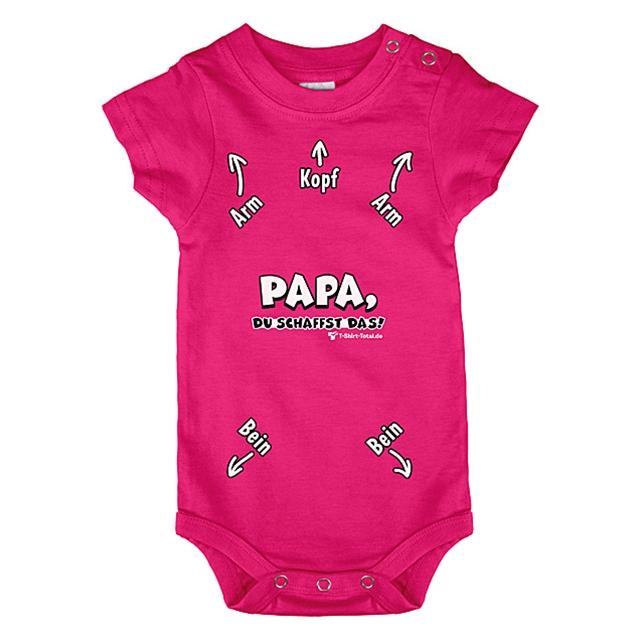Baby Body Papa du schaffst das, Pink 80/86