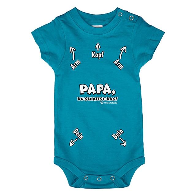 Baby Body Papa du schaffst das, Türkis 56/62