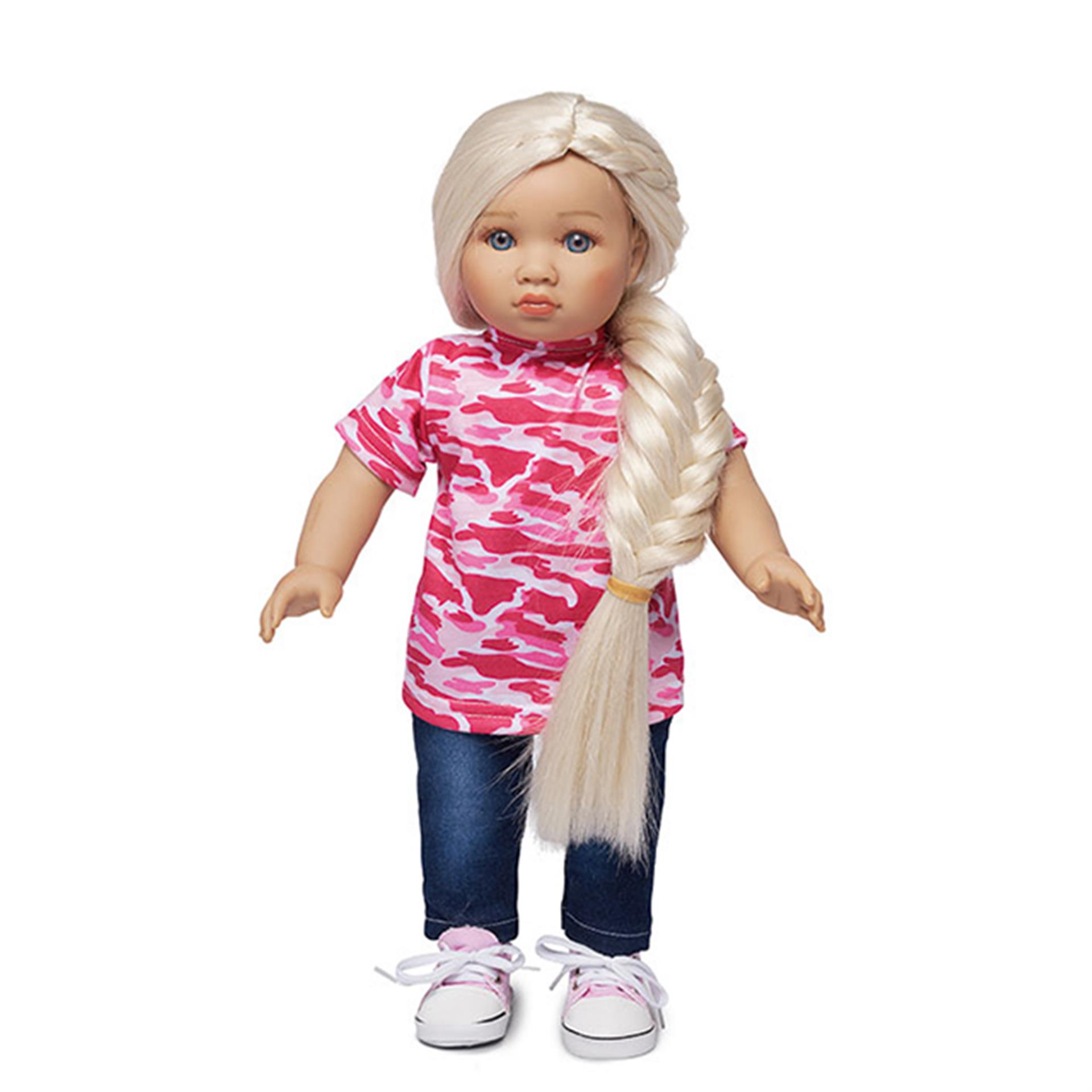 Teen'ee Puppe Emma mit langen Haaren