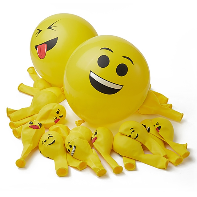 Smiley Ballons 36tlg.