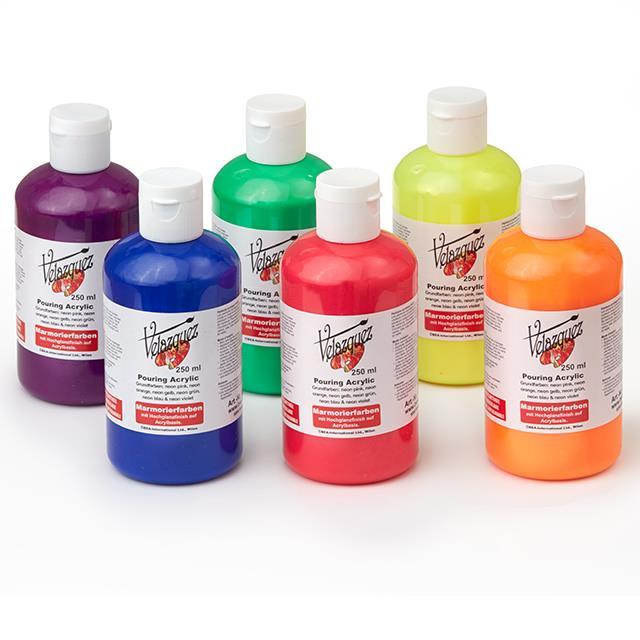 Acrylic Pouring 6 Farben