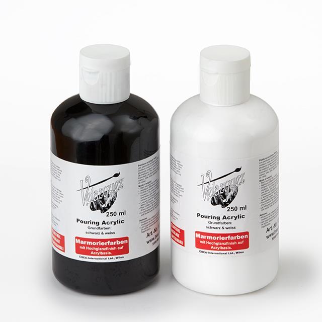 Acrylic Pouring schwarz & weiss