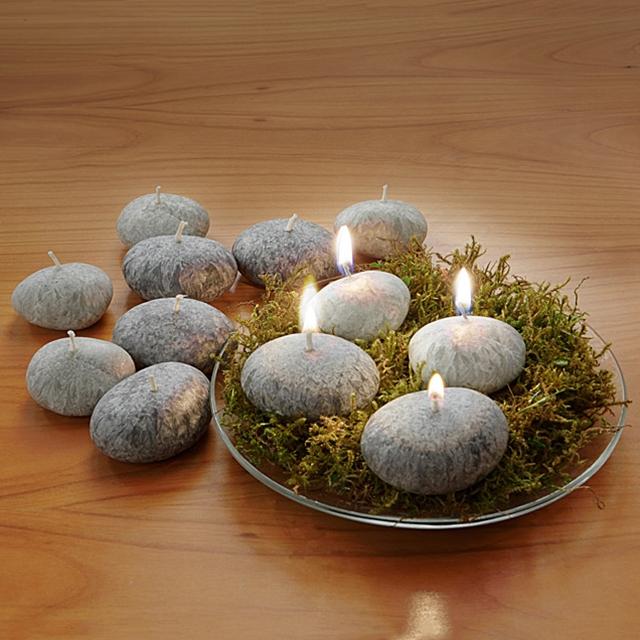 Kerzen Steine 12 Stück