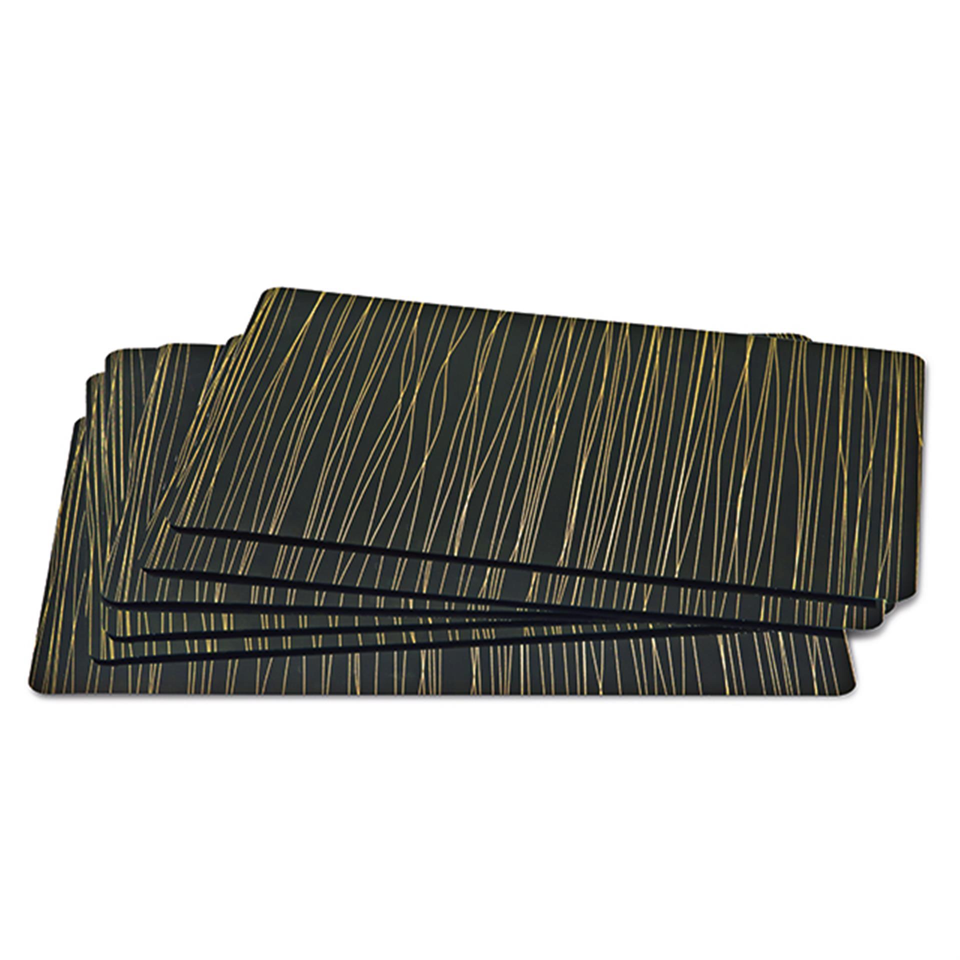 Tischset Line Art schwarz/gold