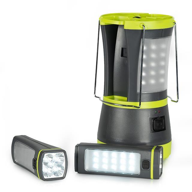 Zeltlampe mit 2 integrierten Taschenlampen
