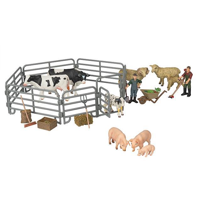 Tierfiguren Bauernhofgehege 22tlg.