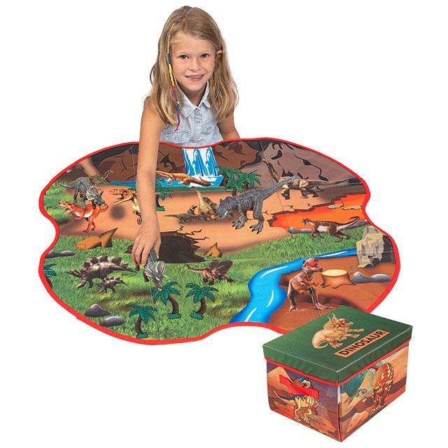 Spielzeugbox/Spielmatte 2in1 Dino Park