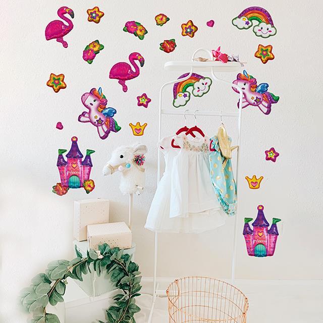 Balloon Sticker 3D Girlie Dream 24 Stk.