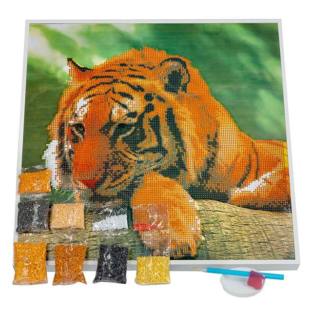 Diamantenbild Tiger