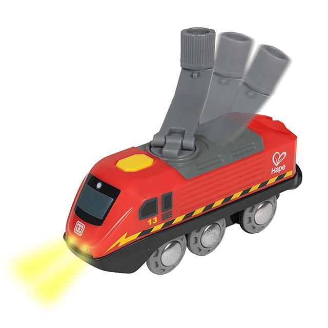 Zug mit Kurbelantrieb für Holzeisenbahn