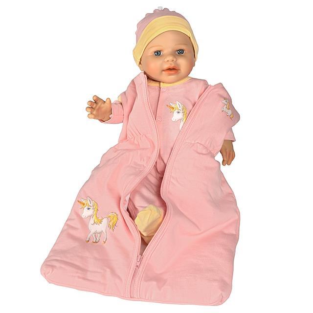 Puppen Schlafsack Set Einhorn BL 3tlg.