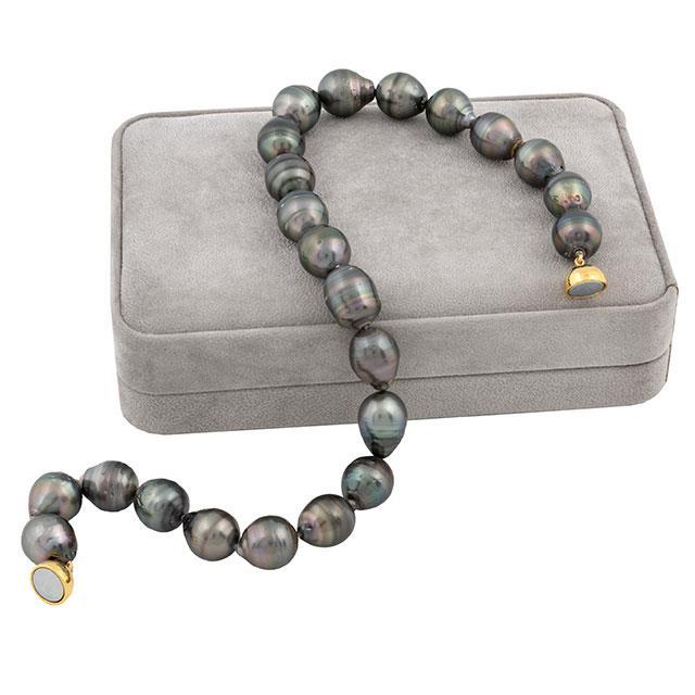 Tahiti Südsee Perlenkette Barock 14-15 mm