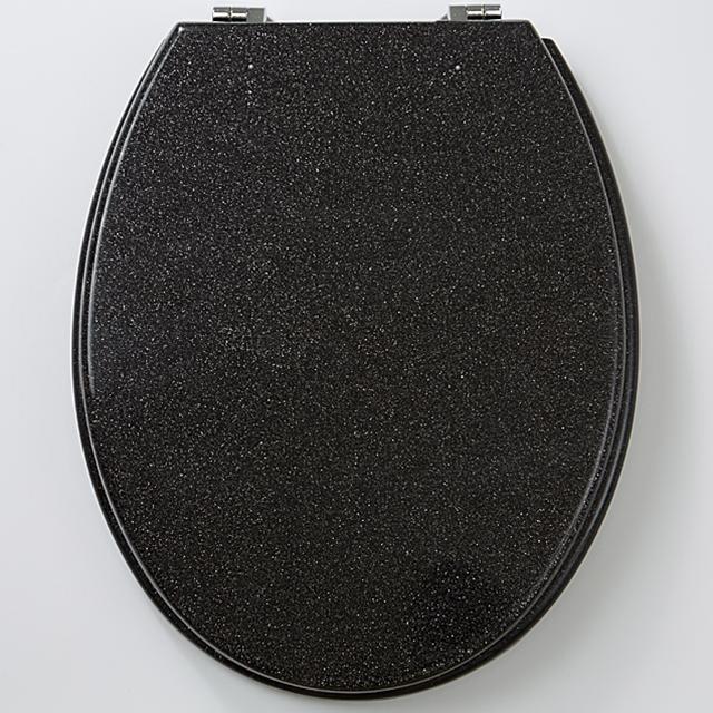 WC Sitz Silber Glimmer Art