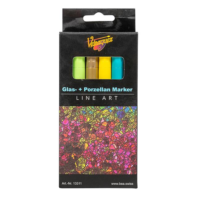 Glas- und  Porzellan Markers 18 Stk.