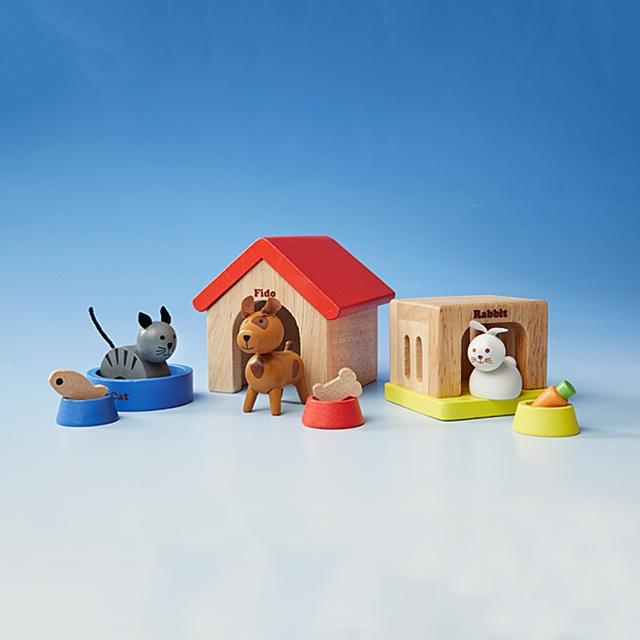 Puppenhaus Haustier Familie 12tlg.