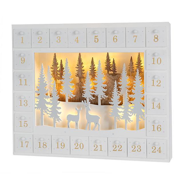 Adventskalender Winterwald LED