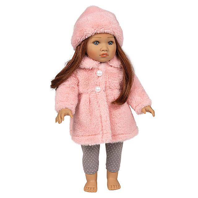 Puppen Pelzmantel Set Pink Dream 3tlg.