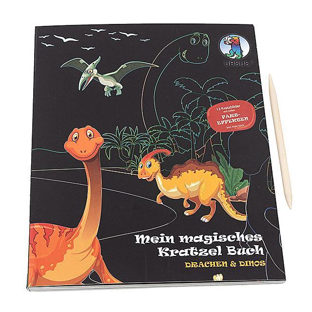 Magische Kratzelbuch Drachen und Dinos