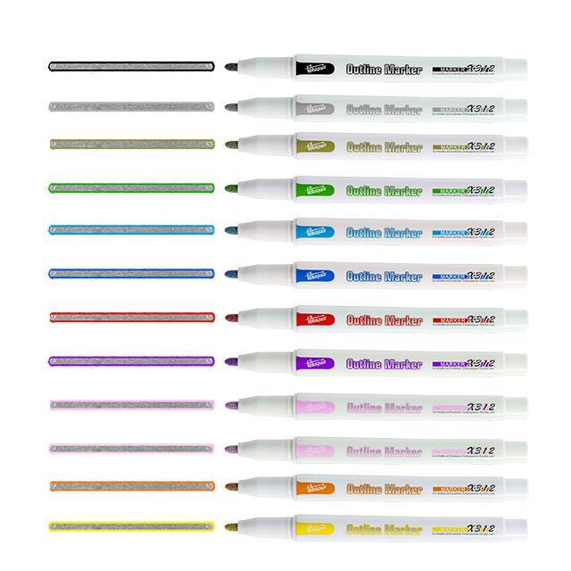 Outline-Marker 12 Stk.