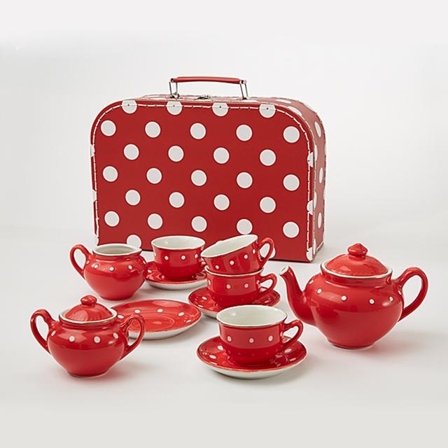 Spiel Teeset Pünktchen 14teilig