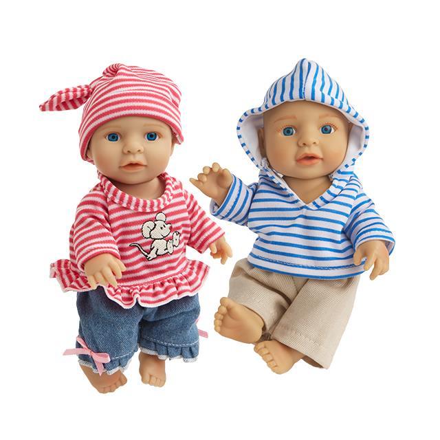 Puppenkleider Streifenkombis Little Sweetie 5tlg.