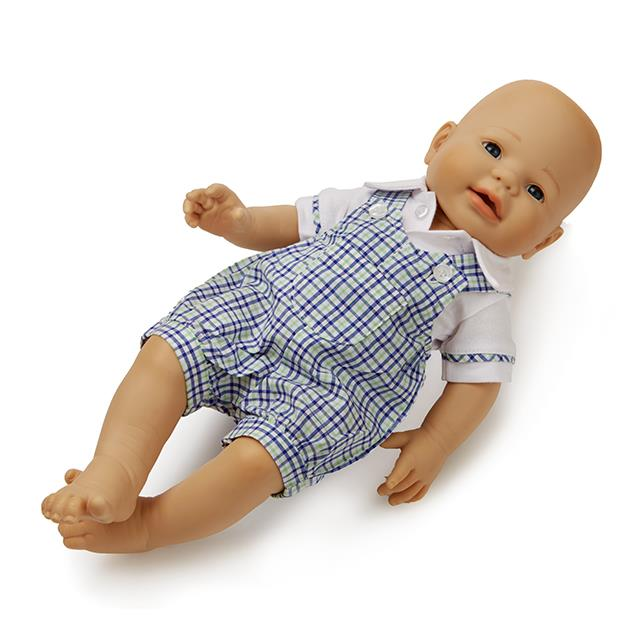 Puppen Latzhosen-Kombi Karo 2tlg. BL