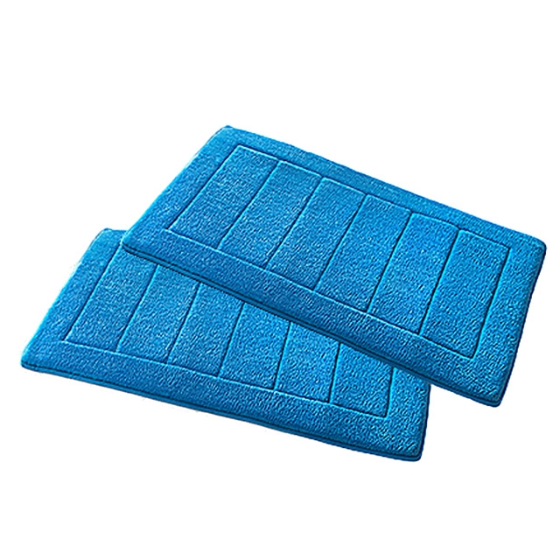 Memory-Foam Badezimmerteppich blau 2 Stk.