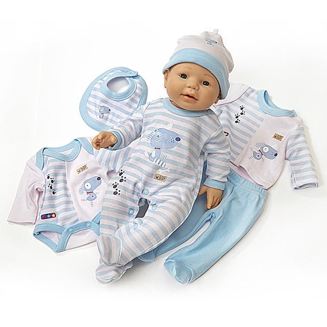 Puppenkleider Erstausstattung Trendy 7tlg. BL