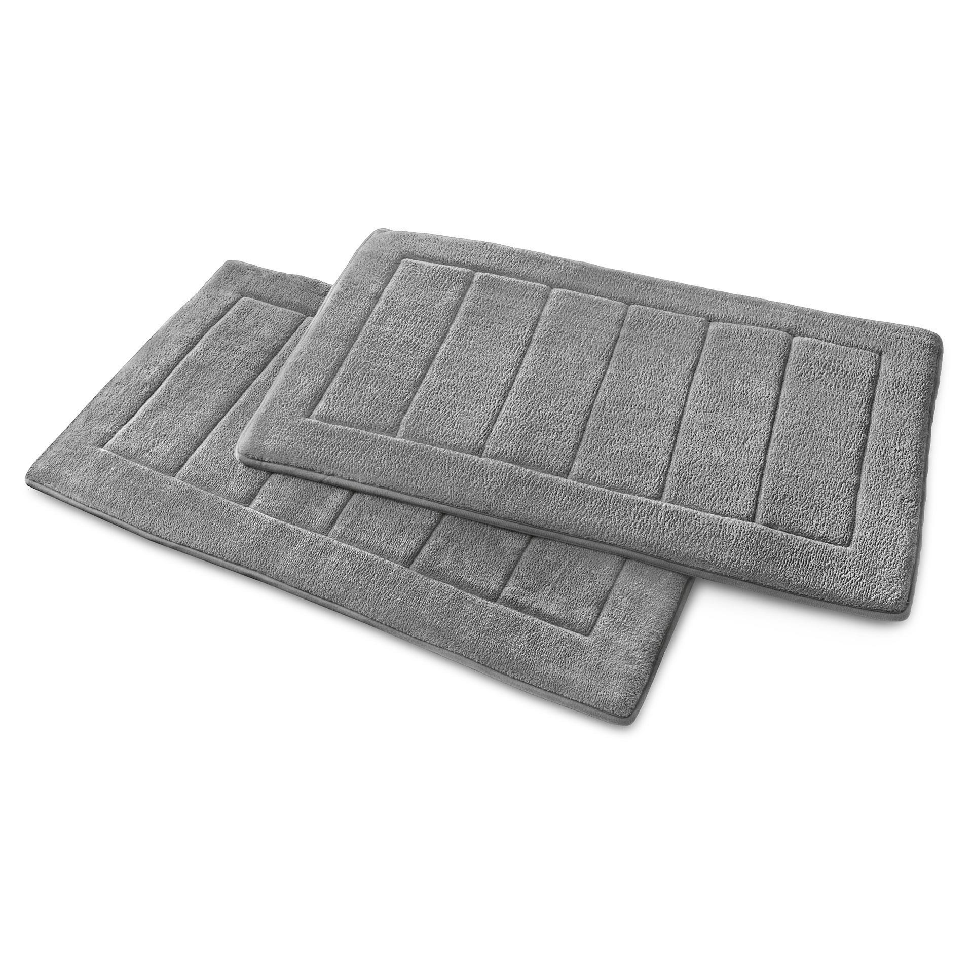 Memory-Foam Badezimmerteppich grau