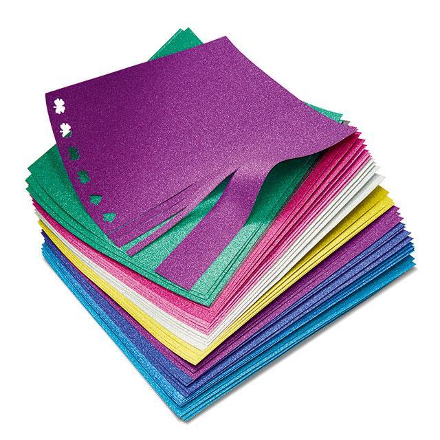 Glitzer Papier 40 Stk.