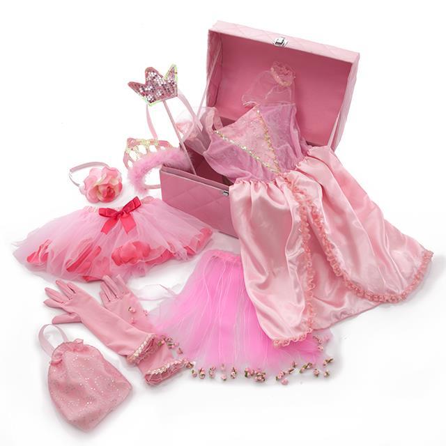 Kostüm Prinzessinnen Schatztruhe 9teilig
