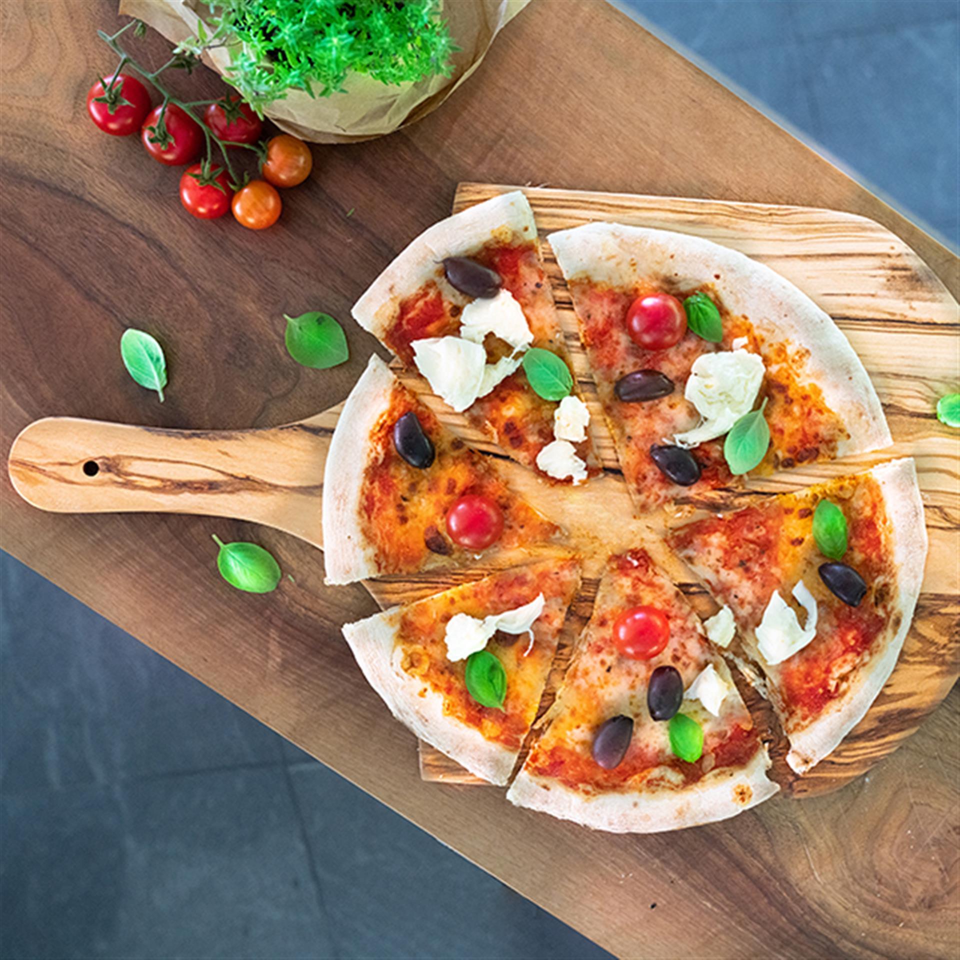 Olivenholz Pizzabrett