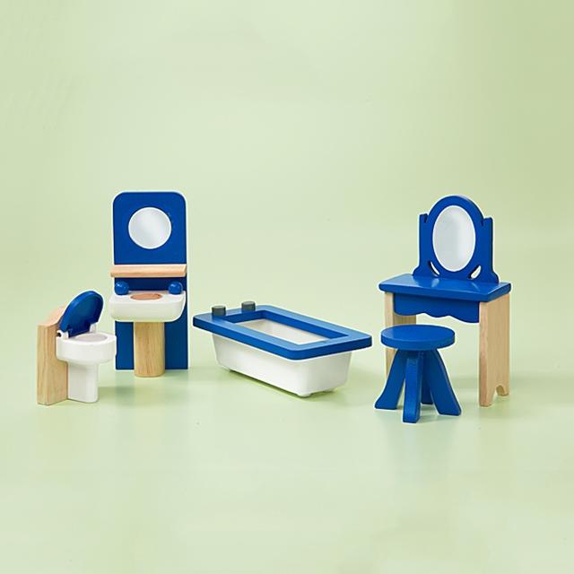 Puppenhaus Badezimmer Möbel 5tlg.
