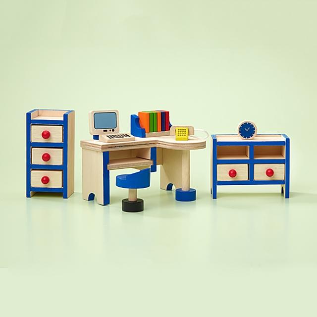 Puppenhaus Büro Möbel 15tlg.
