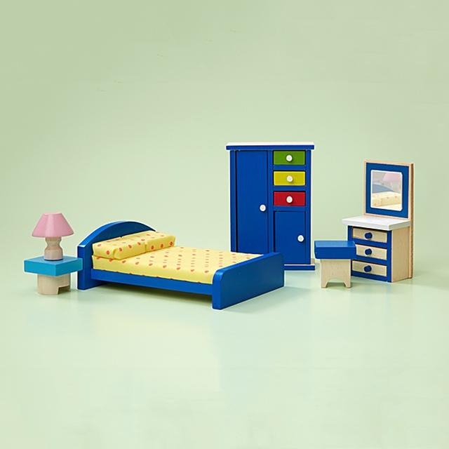 Puppenhaus Elternschlafzimmer Möbel 6tlg.
