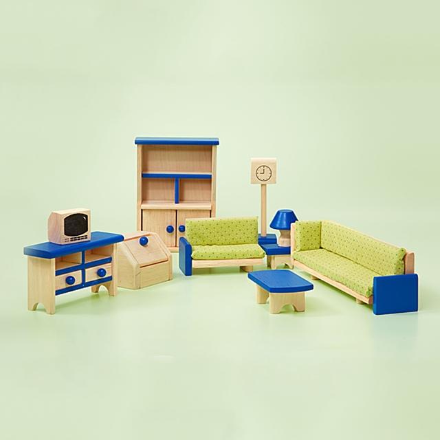 Puppenhaus Wohnzimmer Möbel 10tlg