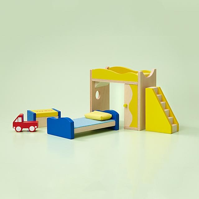 Puppenhaus Kinderzimmer Möbel 5tlg