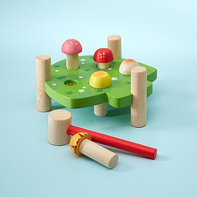 Holz Klopfspiel Pilze