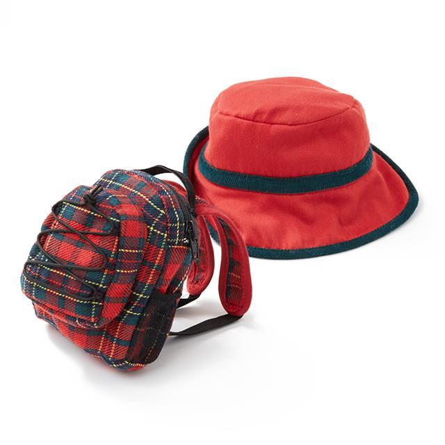 Puppen Rucksack mit Hut BL