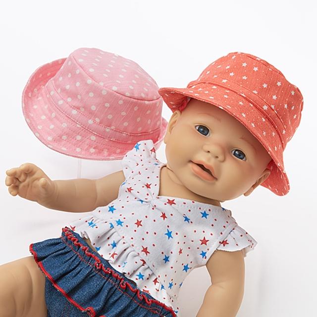 Puppenbekleidung Sonnenhut Rosa Zauber 2er Set BL
