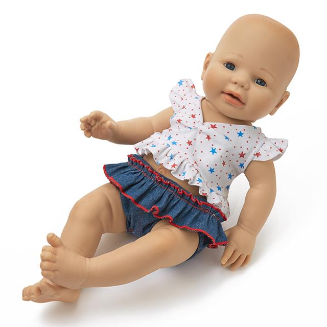 Puppen Schlafanzug Summertime 2tlg. BL