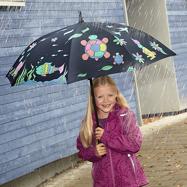 Kinder Regenschirm Farbwechsel Zauber