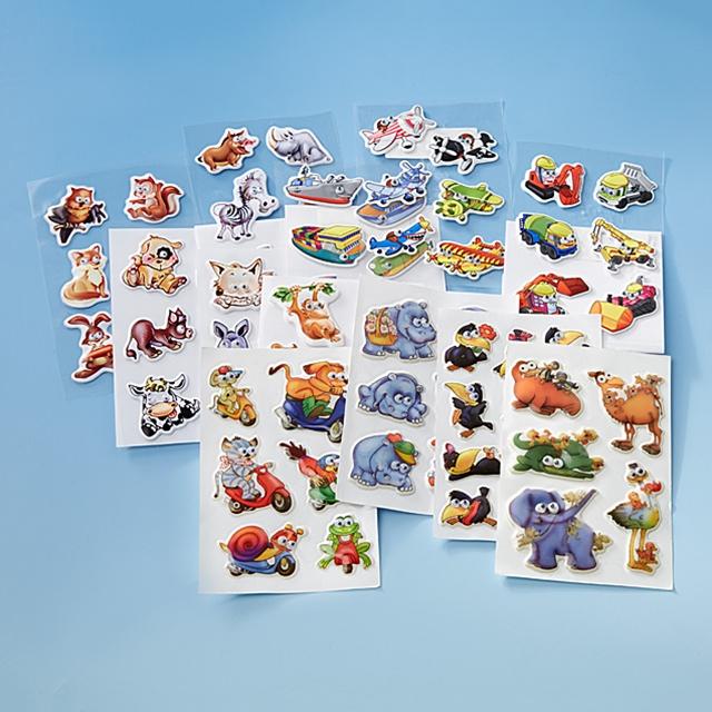 Wackelaugen Tiere Stickers 75tlg.